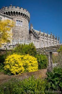 Sunny day in the gardens below Dublin Castle, Dublin, Eire, Republic of Ireland