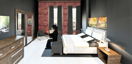 Rendering - Guest Bedroom 2