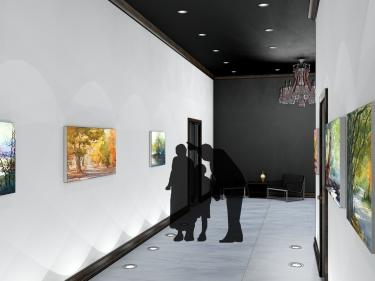 Rendering - Hallway from Elevator